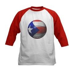 Puerto Rican Basketball Kids Baseball Jersey T-Shirt