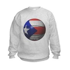 Puerto Rican Basketball Kids Crewneck Sweatshirt by Hanes