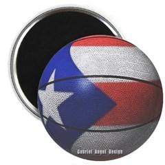 Puerto Rican Basketball Magnet