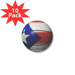 Puerto Rican Basketball Mini Button (10 pack)