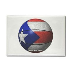 Puerto Rican Basketball Rectangle Magnet