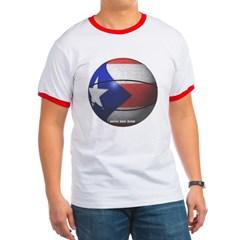 Puerto Rican Basketball Ringer T-Shirt