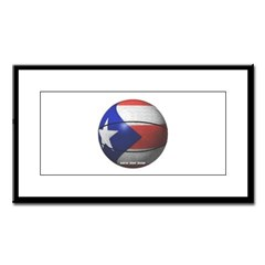 Puerto Rican Basketball Small Framed Print