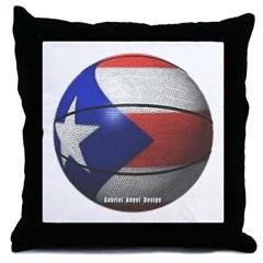 Puerto Rican Basketball Throw Pillow