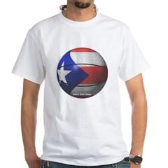Puerto Rican Basketball White T-Shirt