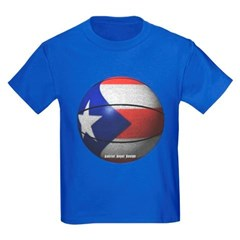 Puerto Rican Basketball Youth Dark T-Shirt by Hanes