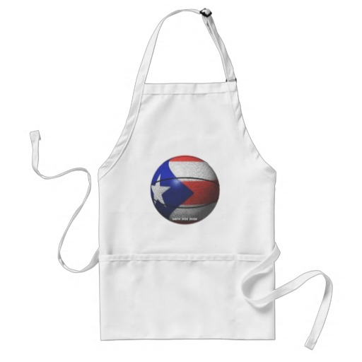 Puerto Rico Basketball Adult Apron