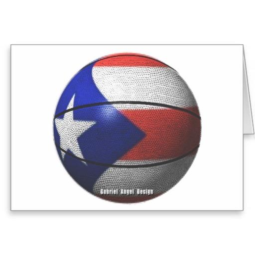 Puerto Rico Basketball Greeting Card