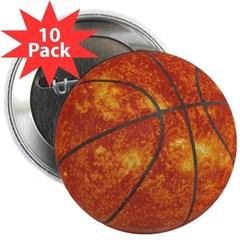 """Basketball Sun 2.25"""" Button (10 pack)"""