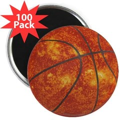 "Basketball Sun 2.25"" Magnet (100 pack)"