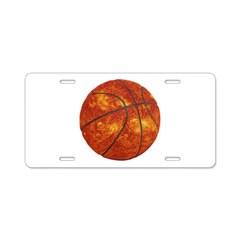 Basketball Sun Aluminum License Plate