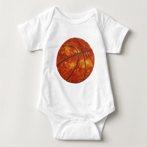 Basketball Sun Baby Jersey Bodysuit