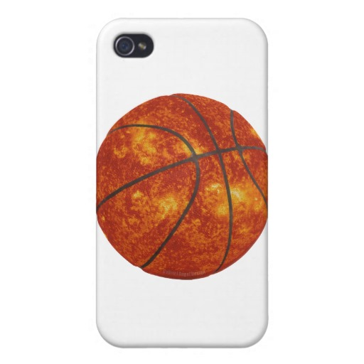 Basketball Sun Case Savvy iPhone 4 Matte Finish Case