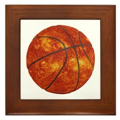 Basketball Sun Framed Tile