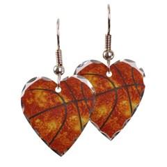 Basketball Sun Heart Earrings
