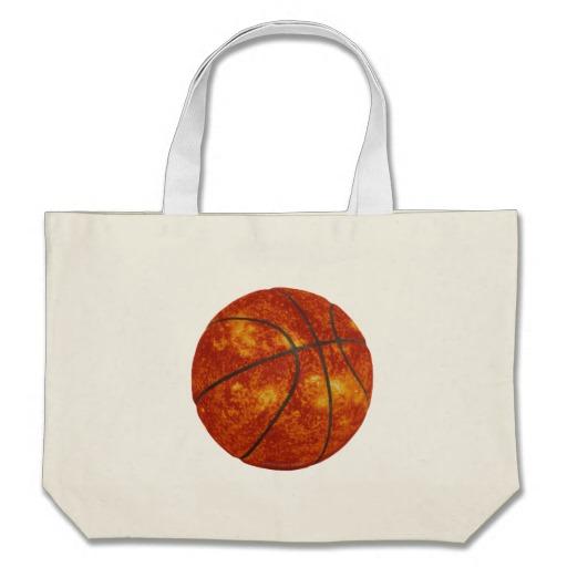 Basketball Sun Jumbo Tote