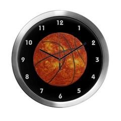 Basketball Sun Modern Wall Clock