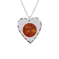 Basketball Sun Necklace with Heart Pendant