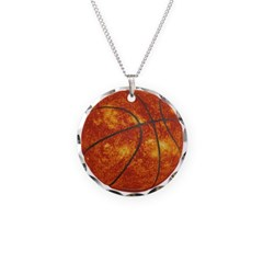 Basketball Sun Necklace with Round Pendant