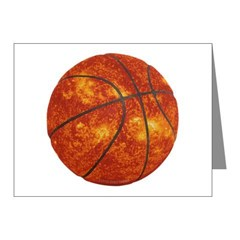 Basketball Sun Note Cards (Pk of 10)