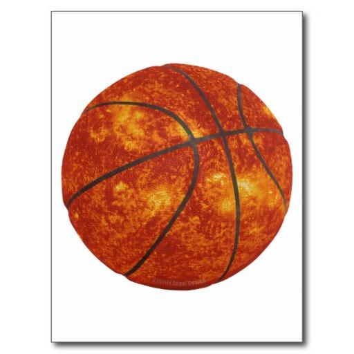 Basketball Sun Postcard