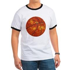 Basketball Sun Ringer T-Shirt