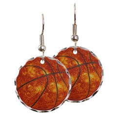 Basketball Sun Round Earrings