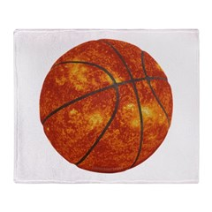Basketball Sun Throw Blanket