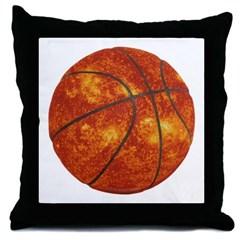 Basketball Sun Throw Pillow