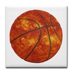 Basketball Sun Tile Coaster