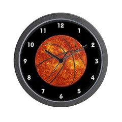 Basketball Sun Wall Clock