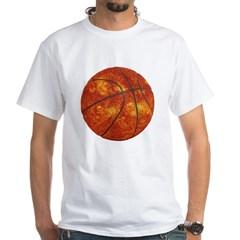 Basketball Sun White T-Shirt