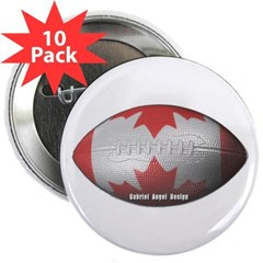 """Canadian Football 2.25"""" Button (10 pack)"""