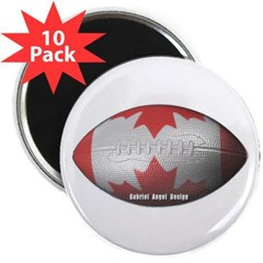 "Canadian Football 2.25"" Magnet (10 pack)"