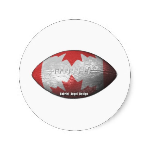 Canadian Football Classic Round Sticker