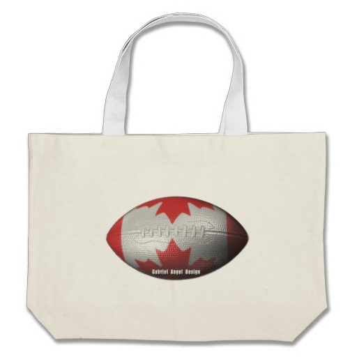 Canadian Football Jumbo Tote