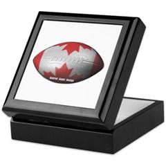 Canadian Football Keepsake Box