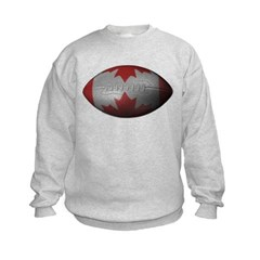 Canadian Football Kids Crewneck Sweatshirt by Hanes