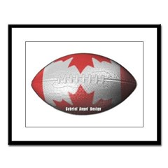 Canadian Football Large Framed Print