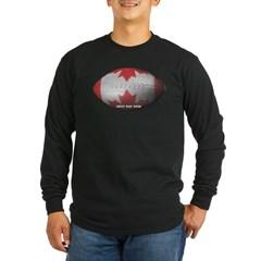 Canadian Football Long Sleeve Dark T-Shirt