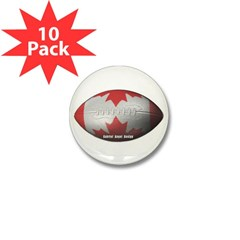 Canadian Football Mini Button (10 pack)