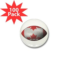 Canadian Football Mini Button (100 pack)