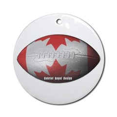 Canadian Football Ornament (Round)