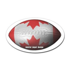Canadian Football Oval Decal