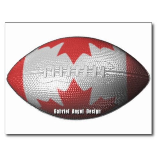 Canadian Football Postcard