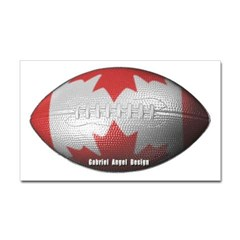 Canadian Football Rectangle Decal