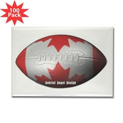 Canadian Football Rectangle Magnet (100 pack)