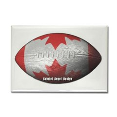 Canadian Football Rectangle Magnet