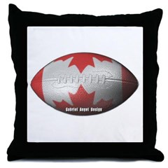 Canadian Football Throw Pillow