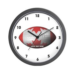 Canadian Football Wall Clock